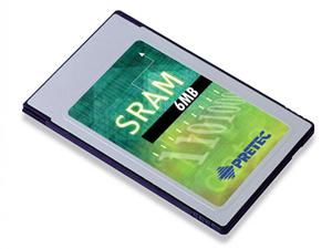 Pretec Indust.PCMCIA SRAM Card 6MB (-20°C / +80°C)