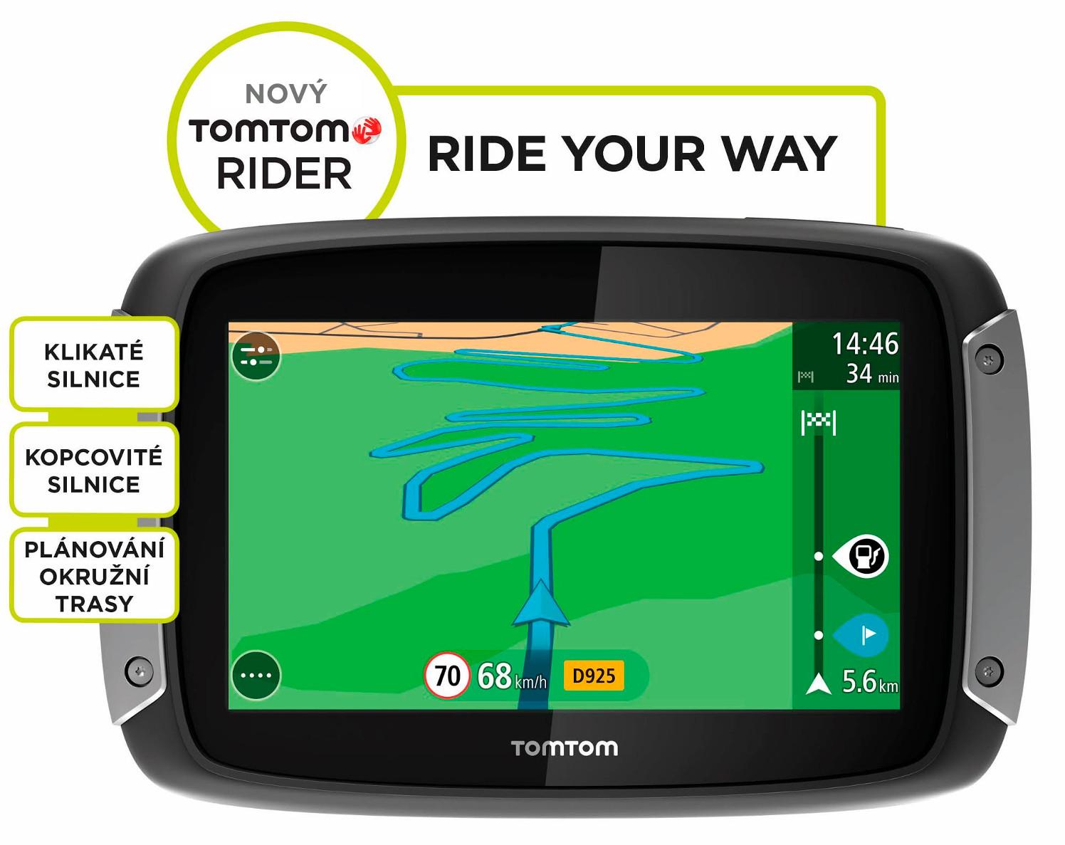 TomTom Rider 400 EU Premium Pack pro motocykly LIFETIME mapy