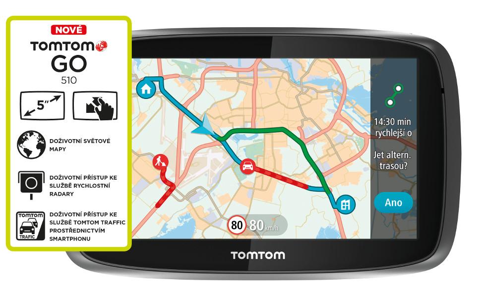 TomTom GO 510 World, LIFETIME mapy