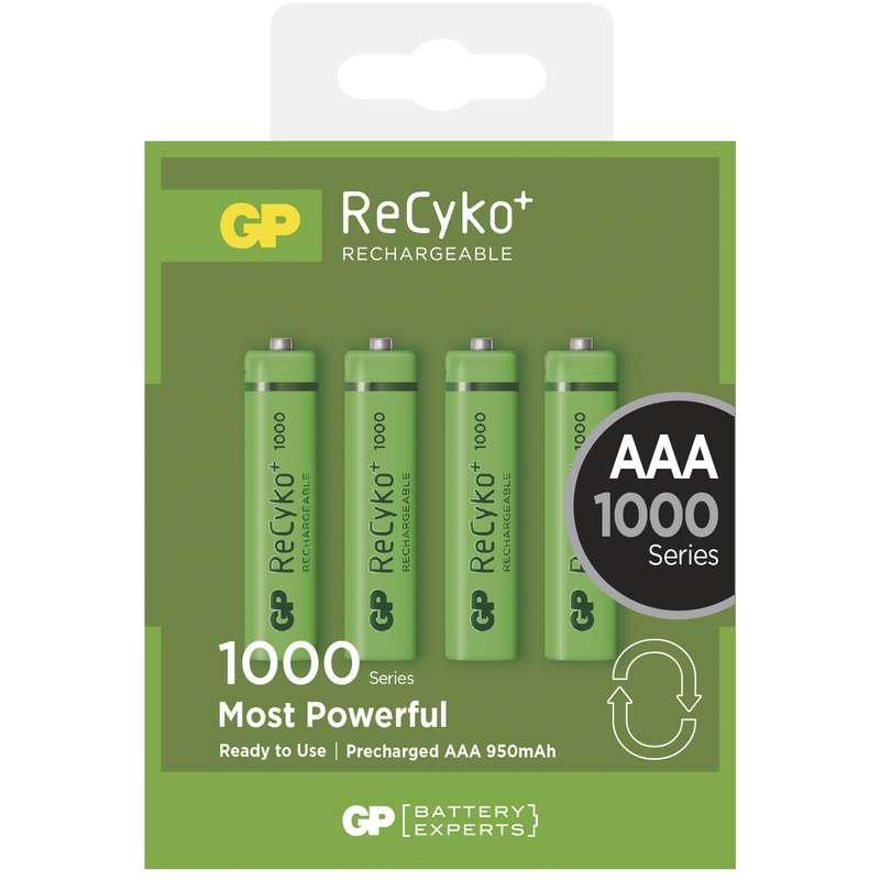 Nabíjecí baterie GP RECYKO AAA (1000mAh)- 4ks