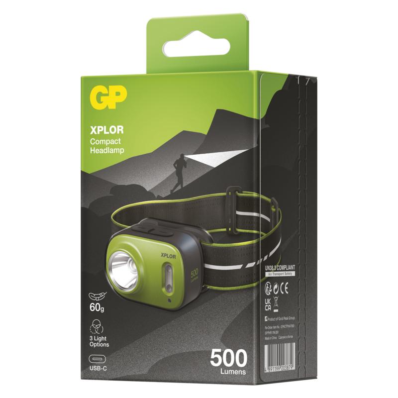 LED nabíjecí čelovka GP Xplor PHR17, 500 lm - 1451085670