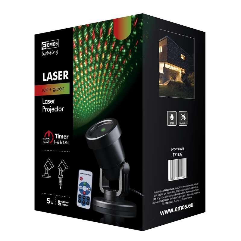 Laserový dekorativní projektor venkovní+ovladač