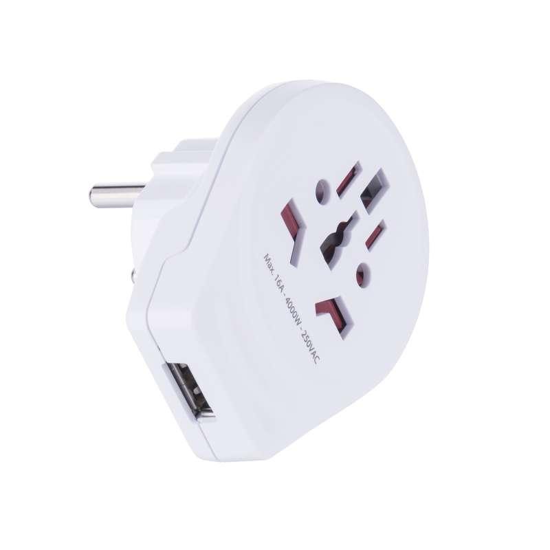 Cestovní adaptor pro cizinco do ČR s USB nabíjením