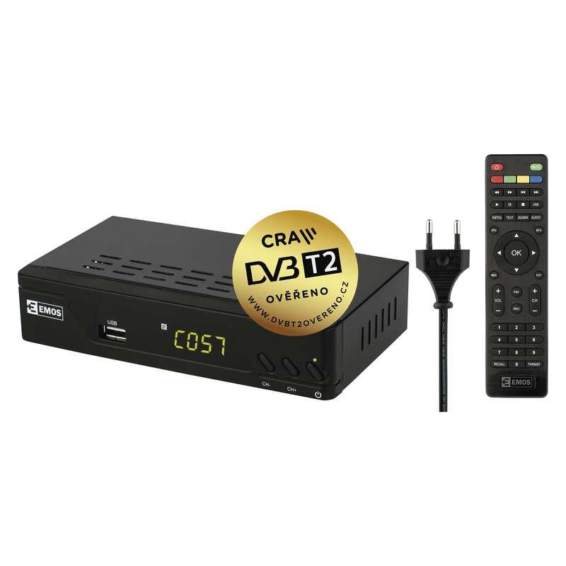 FULL HD DVB-T2 PŘIJÍMAČ EM-170