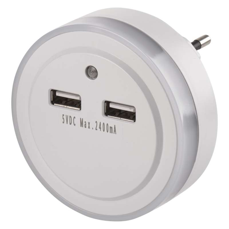 EMOS Noční světlo s 2 x USB + fotosenzor (P3313) - 1456000100