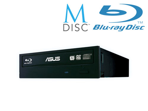 ASUS BC-12D2HT BLACK interní BD COMBO + soft + verbatim M-disk