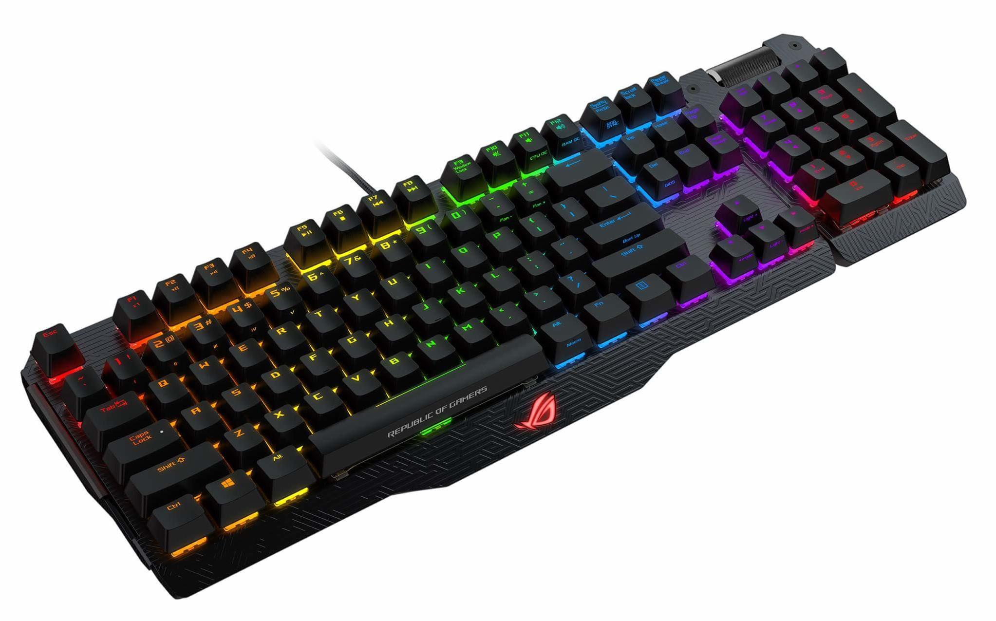 ASUS ROG MA01 Claymore BROWN/CHERRY/US - RGB  mech. keyboard w/ LED lightning US layout + dárek PAD