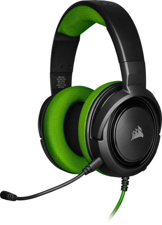 CORSAIR herní headset HS35 Green