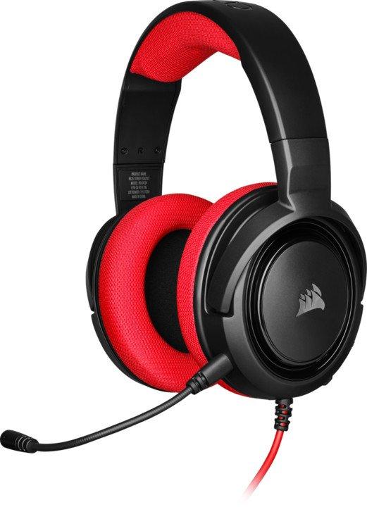 CORSAIR herní headset HS35 Red