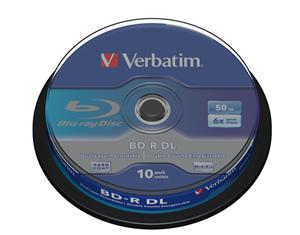 VERBATIM BD-R DL(10-pack)50GB/6x/spindle