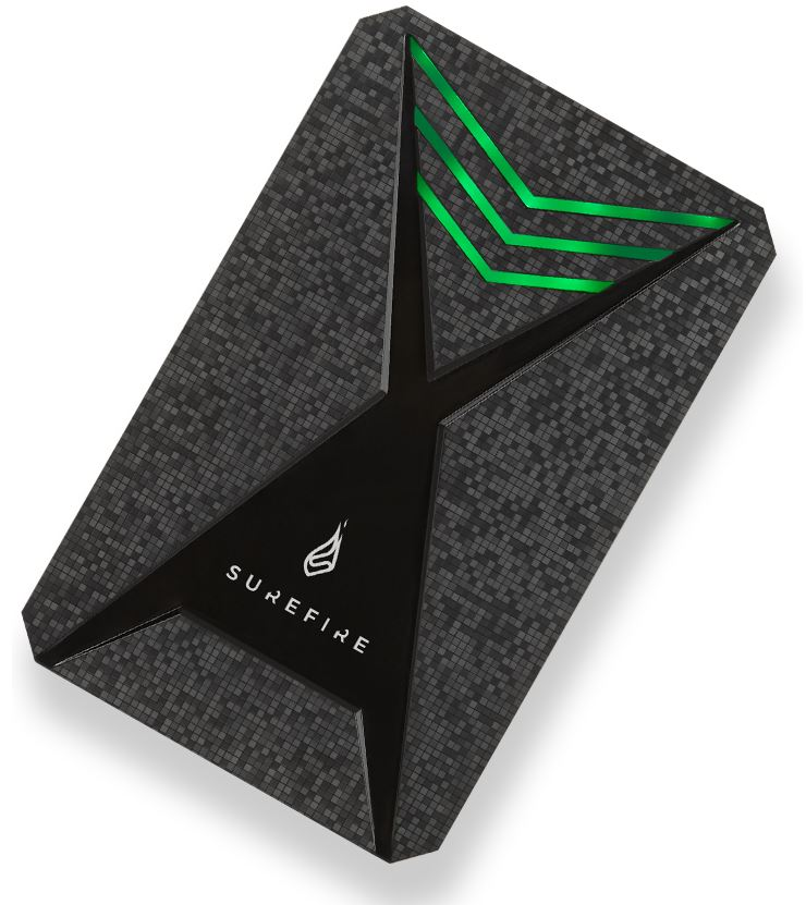 SureFire Gaming Bunker HDD USB 3.2 Gen 1 2TB Black - 53682