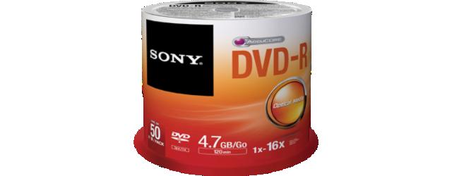 Média DVD-R SONY DMR-47; 4.7GB; 16x; 50ks SPINDL