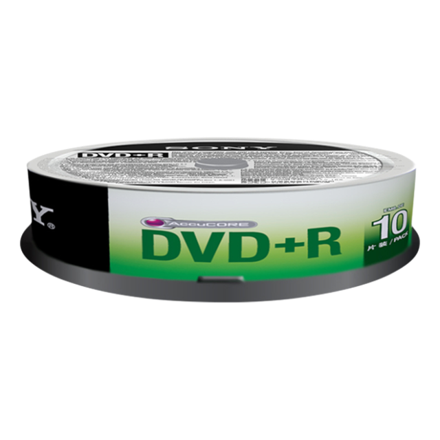 Média DVD-R SONY; 4.7GB; 10ks SPINDL (120 min.)