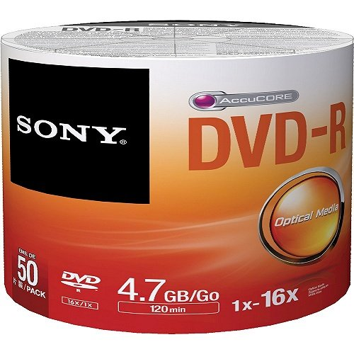 Média DVD-R SONY; 4.7GB; 50ks Bulk