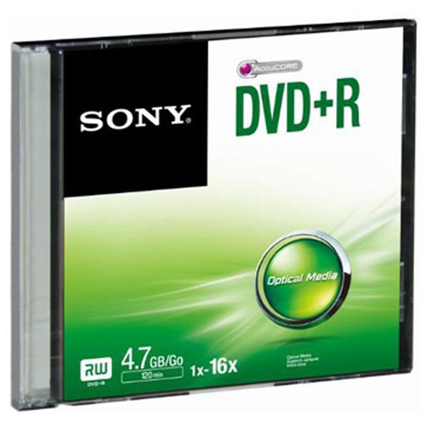 Média DVD-R SONY; 4.7GB; 1 ks SLIM (120 min.)