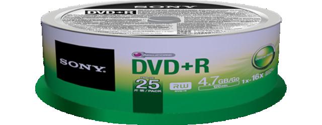 Média DVD+R SONY DPR-47SP,25ks pack, Spindl