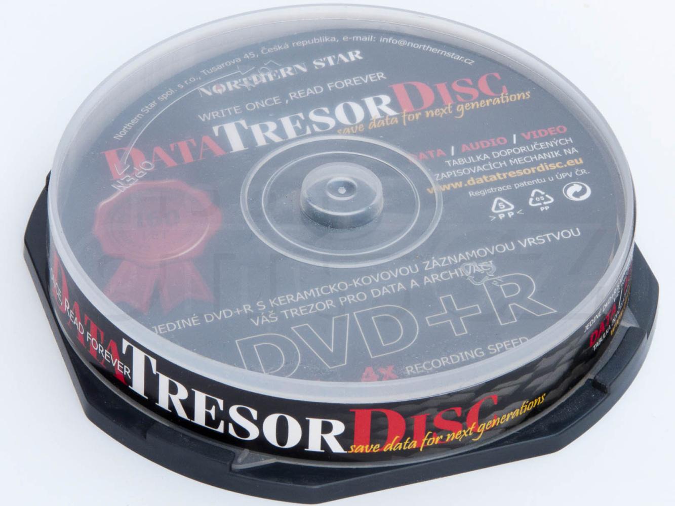Média DVD+R DTD 160let životnost 4,7GB 4x,100ks cb