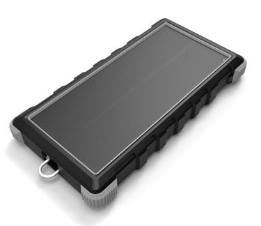 Solární powerbanka VIKING W10 10000mAh, Outdoorová s IP67, Podpora rychlonabíjení QC3.0, USB-C - VSPW10B