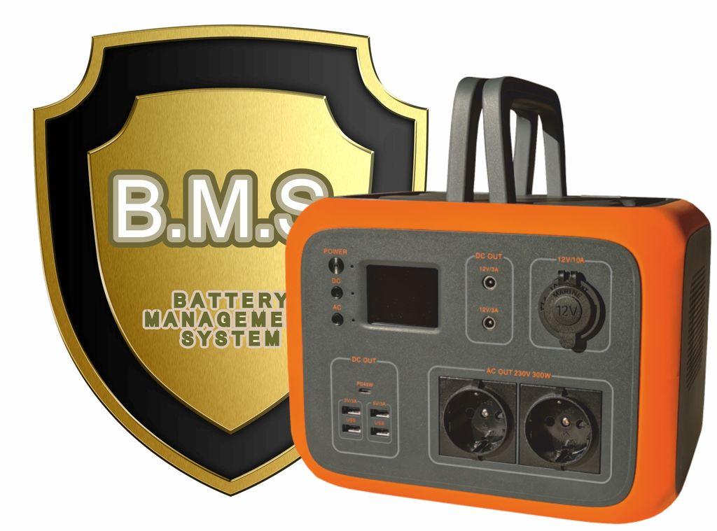 BATERIOVÝ GENERÁTOR VIKING AC600, Přenosná nabíjecí stanice, 230V/600W, UPS, oranžová - VAC600OR
