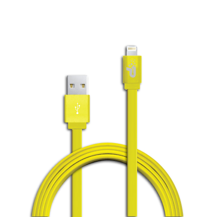 Patriot Lightning kabel MFi, plochý žlutý 1m