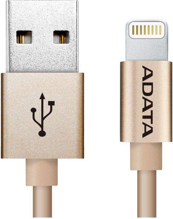 ADATA Lightning kabel MFi 1m zlatý pletený