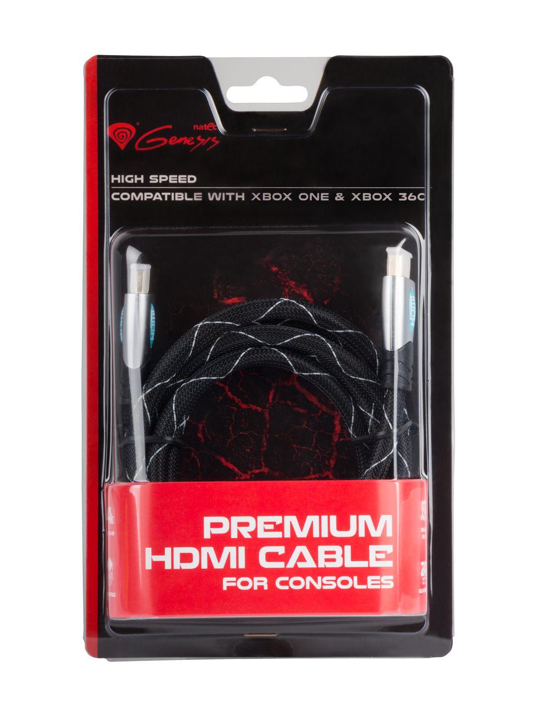 GENESIS Prémiový HDMI kabel pro Xbox One/X360 1,8m - NKA-0557