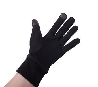 Flísové rukavice NATEC na dotykový displej - černé