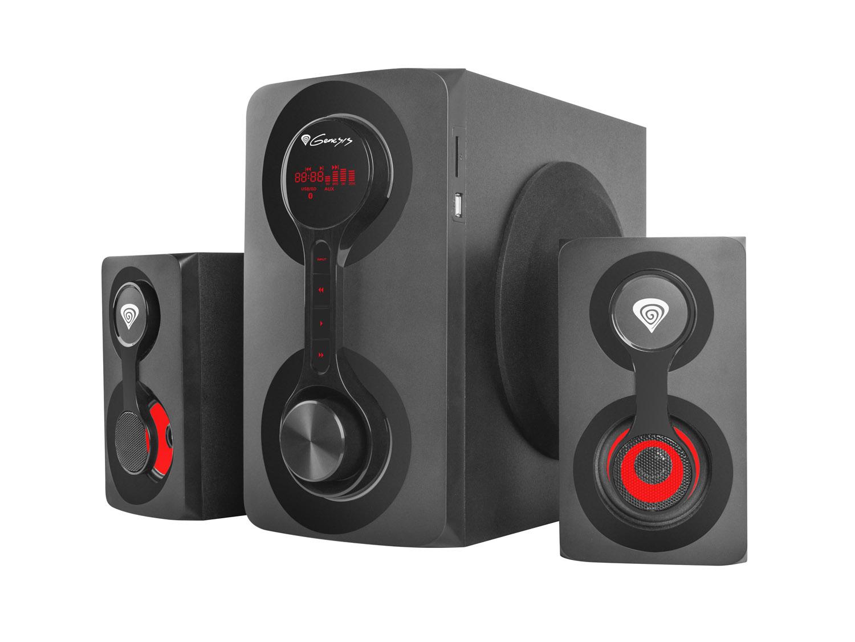Reproduktory 2.1 60W GENESIS HELIUM 700BT, Bluetooth 4.2 + 1x jack 3,5mm, dřevo