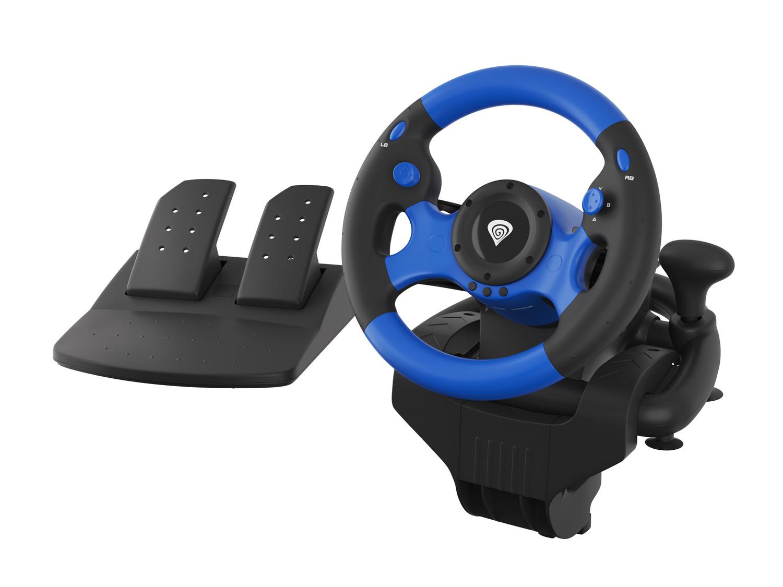 Genesis Seaborg 350 Herní volant, multiplatformní pro PC, PS4, PS3, Xbox One, Switch, 180° - NGK-1566