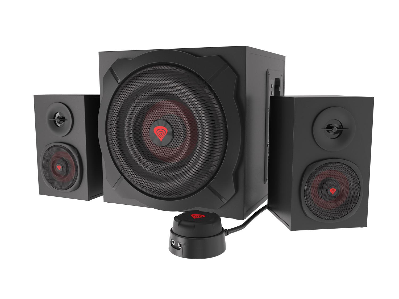 Reproduktory 2.1 60W GENESIS HELIUM 610BT, drátové + bezdrátové připojení Bluetooth, dřevo - NCS-1408