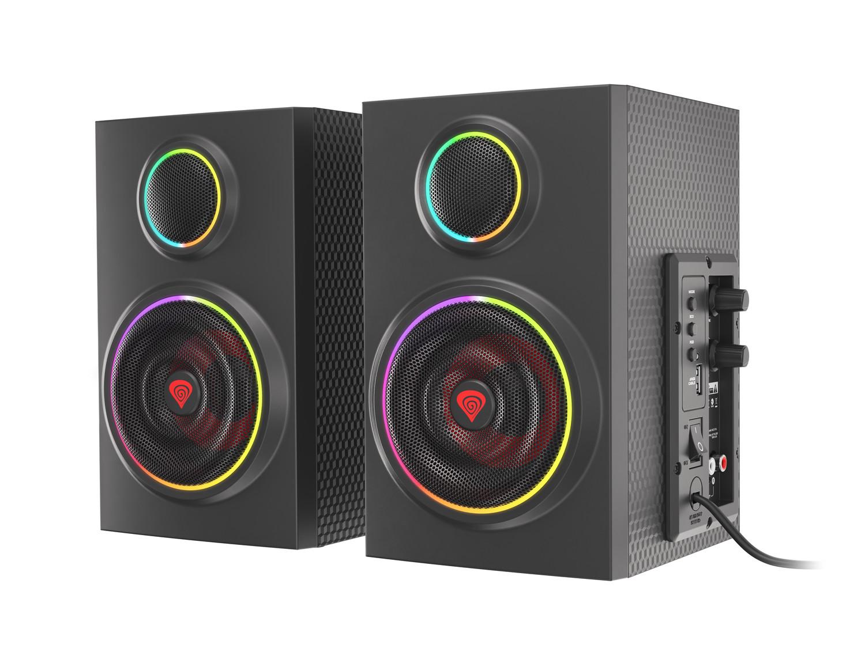Reproduktory 2.0 24W GENESIS HELIUM 300BT ARGB, Bluetooth 5.0 - NCS-1716