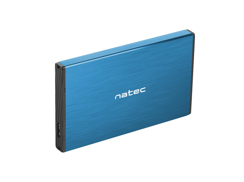 Externí box pro HDD 2,5'' USB 3.0 Natec Rhino Go, modrý, hliníkové tělo - NKZ-1280
