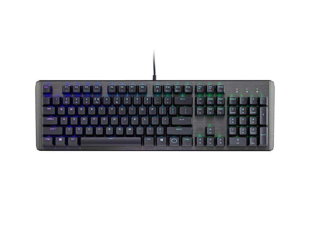 COOLER MASTER MASTERKEYS CK550 RGB mechanická klávesnice US layout, GATERON BROWN