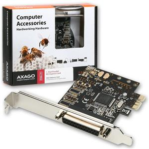 AXAGO PCI-Express adapter 1x paralel port + LP