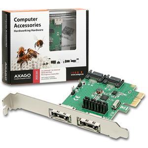 AXAGO PCIe řadič 2x int./ext. SATA III 6G ASMedia