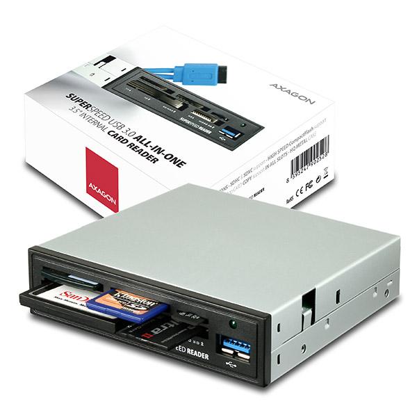 AXAGON interní 3.5' USB 3.0 5-slot čtečka ALL-IN-O