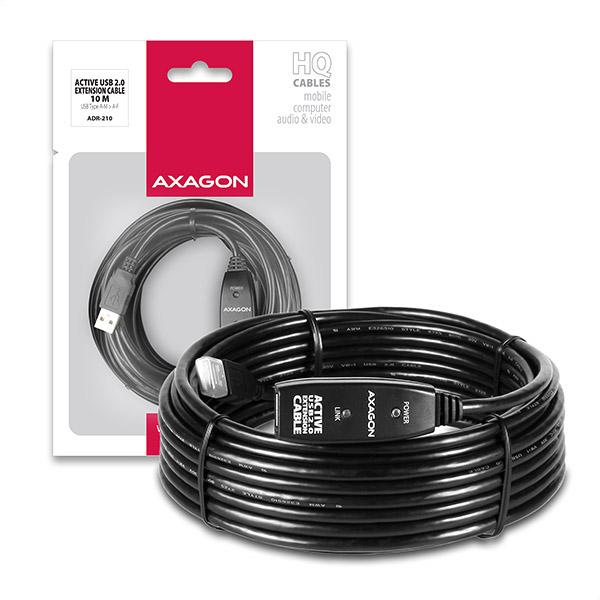AXAGON ADR-210 USB2.0 aktivní prodlužovací / repeater kabel, 10m