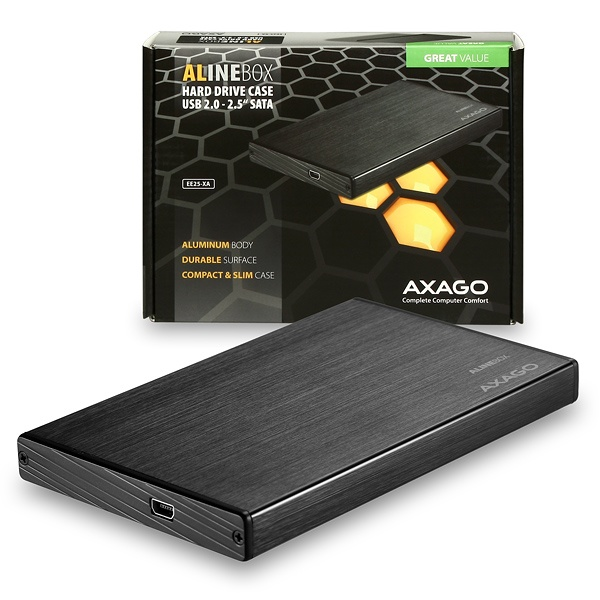 AXAGO USB2.0 - SATA 2.5'' externí ALINE box