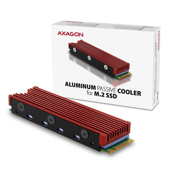 AXAGON CLR-M2, hliníkový pasívní chladič pro M.2 2280 SSD - CLR-M2