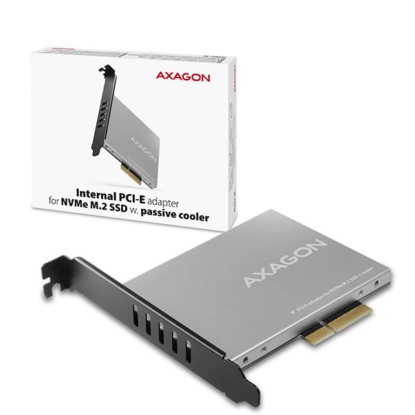 AXAGON PCEM2-NC, PCIe x4 - M.2 NVMe M-key slot adaptér, pasivní chladič - PCEM2-NC