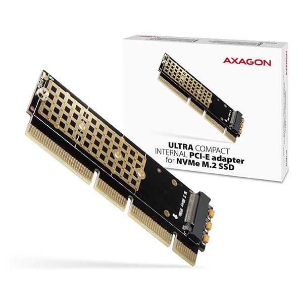 AXAGON PCEM2-1U, PCIe x16/x8/x4 - M.2 NVMe M-key slot adaptér, 1U - PCEM2-1U