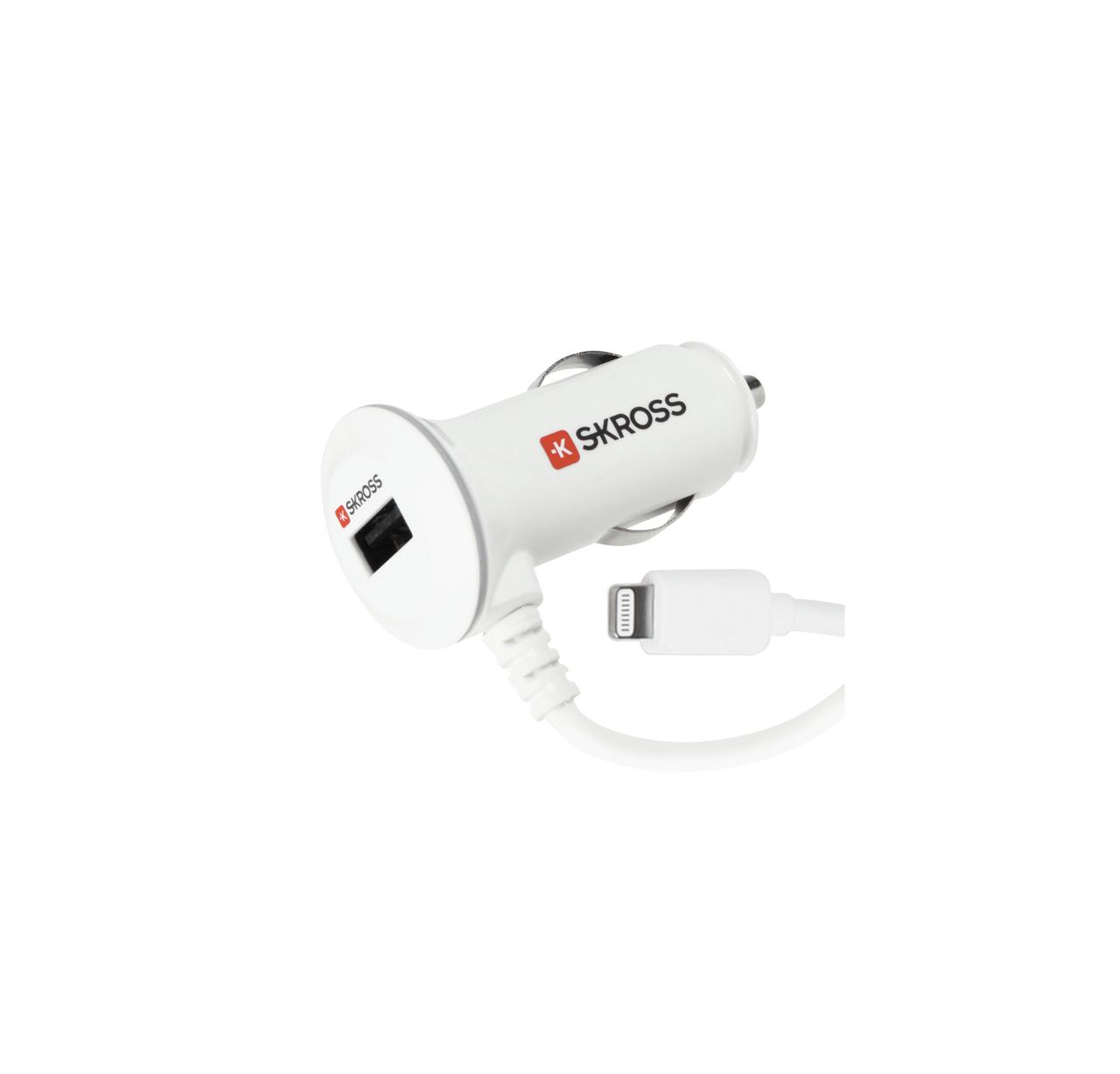 SKROSS Midget Car charger 1x USB 2A + Lightning