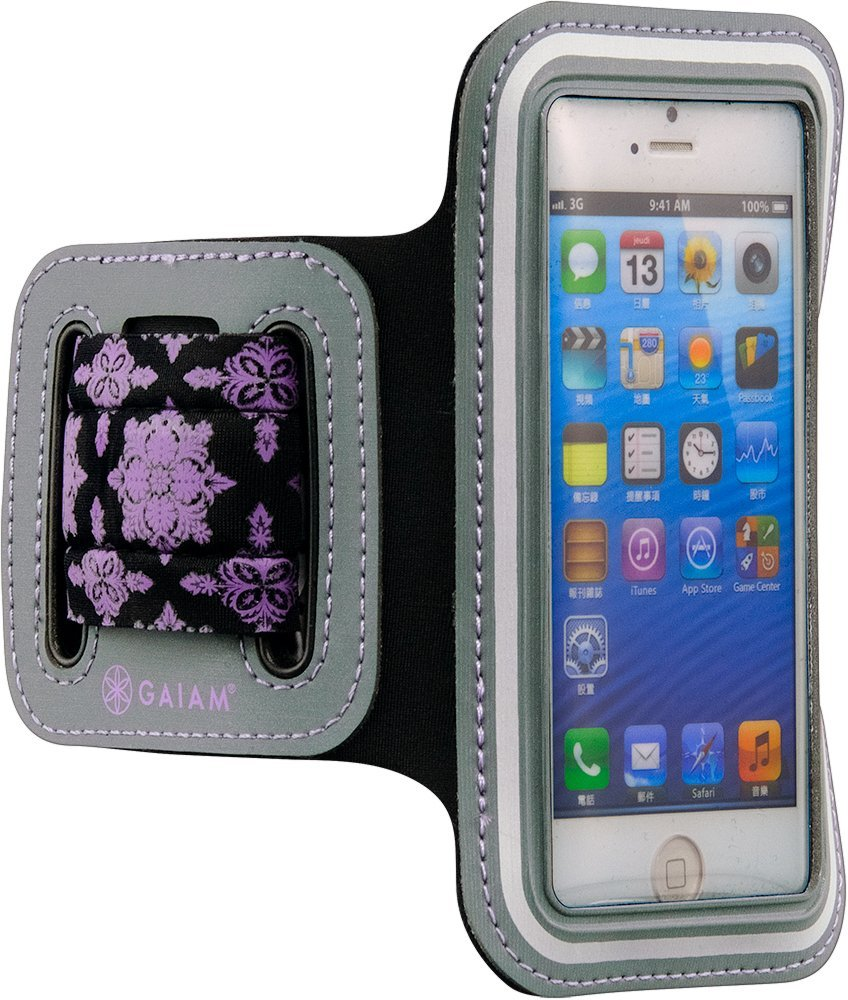 GAIAM Sport Armband Purple - small phone