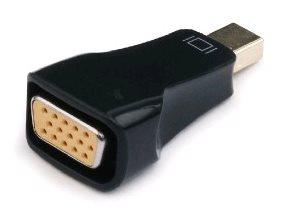 Kabel red. miniDisplayport na VGA, M/F, černá