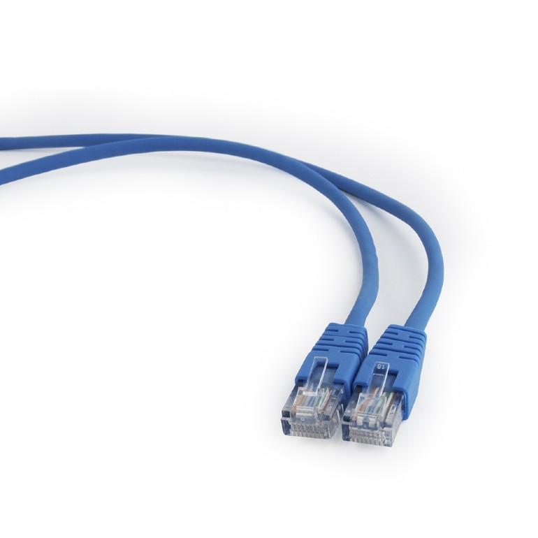 GEMBIRD Eth Patch kabel cat5e UTP, 1,5m, modrý - PP12-1.5M/B
