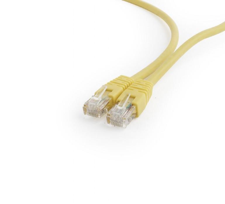 GEMBIRD Eth Patch kabel cat6 UTP, 25cm, žlutá - PP6U-0.25M/Y