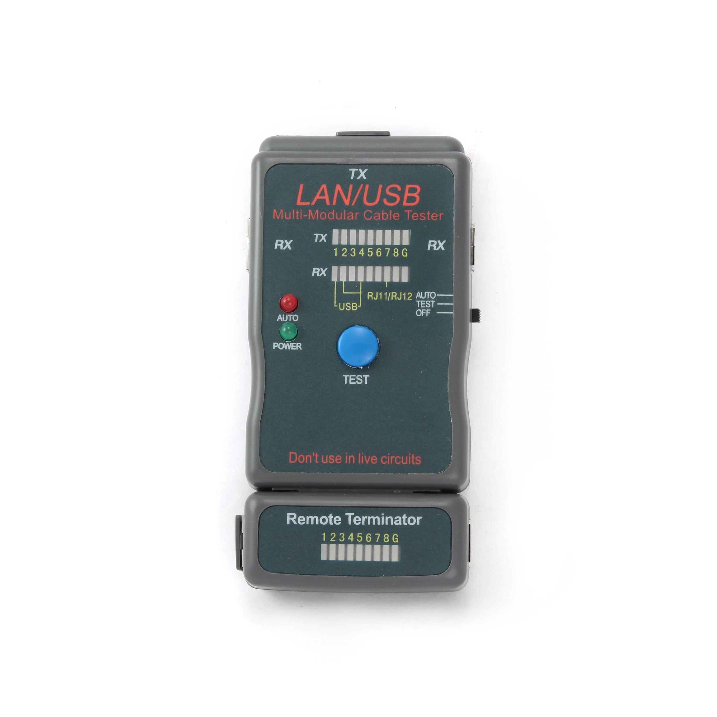 GEMBIRD Eth kabel tester NCT-2 - RJ11-12,USB - NCT-2