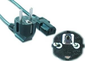 Kabel síťový  5m VDE 220/230V napájecí - PC-186-VDE-5M