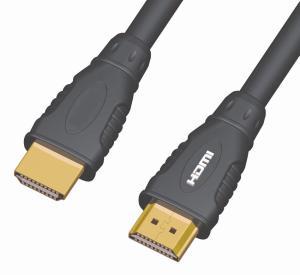 PremiumCord Kabel HDMI A - HDMI A M/M 1m,zlac.kon.