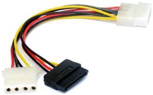 Kabel SATA napájecí 15cm 1x5,25 na 1x5,25 a 1xSATA